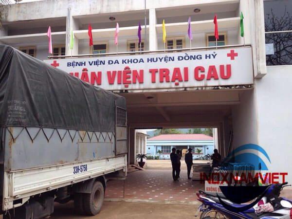 Giường tủ inox BV Thái Nguyên