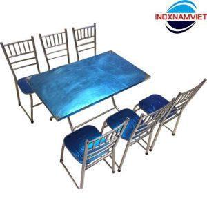 Một số mẫu bàn ghế ăn inox đến từ Inox Nam Việt