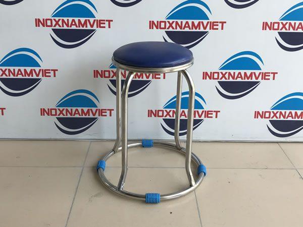 Ưu điểm của ghế inox tròn cao so với ghế thông thường