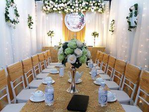 Mua bộ bàn ghế đám cưới inox ở đâu chất lượng?