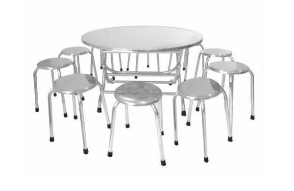 Ưu điểm bộ bàn tròn inox 10 ghế