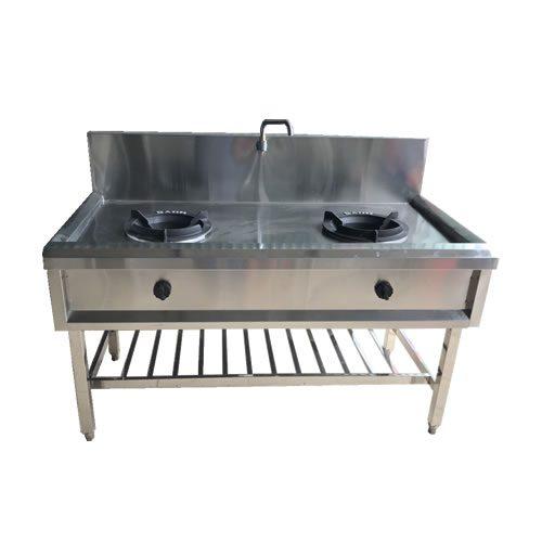 2 mẫu bếp công nghiệp inox họng xòe được sử dụng phổ biến